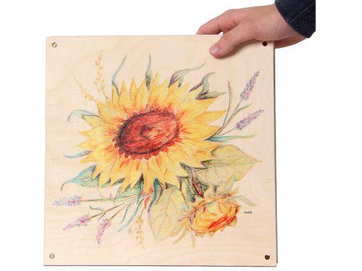 Blumenpresse aus Holz für große Blumen und Gräser