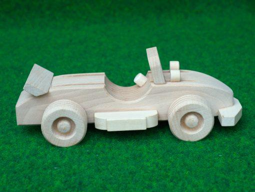 Cabrio Sportwagen aus Holz - nachhaltig spielen mit Holz