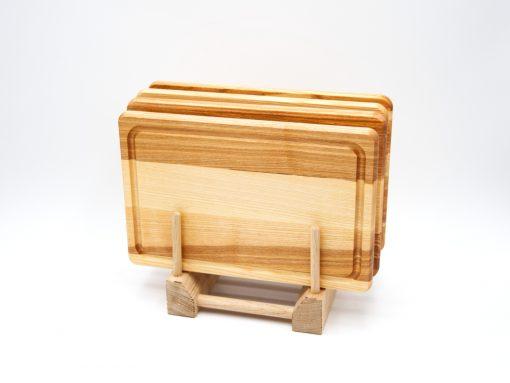 Design Jausenbrett aus Esche rechteckig Set 4 Stk