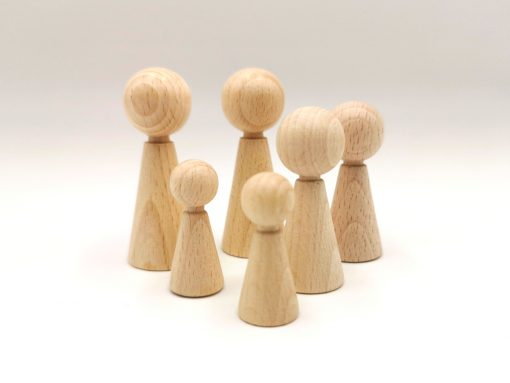 Figurenkegel aus Holz