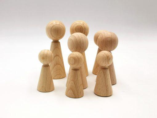 Figurenkegel aus Holz in 3 Größen