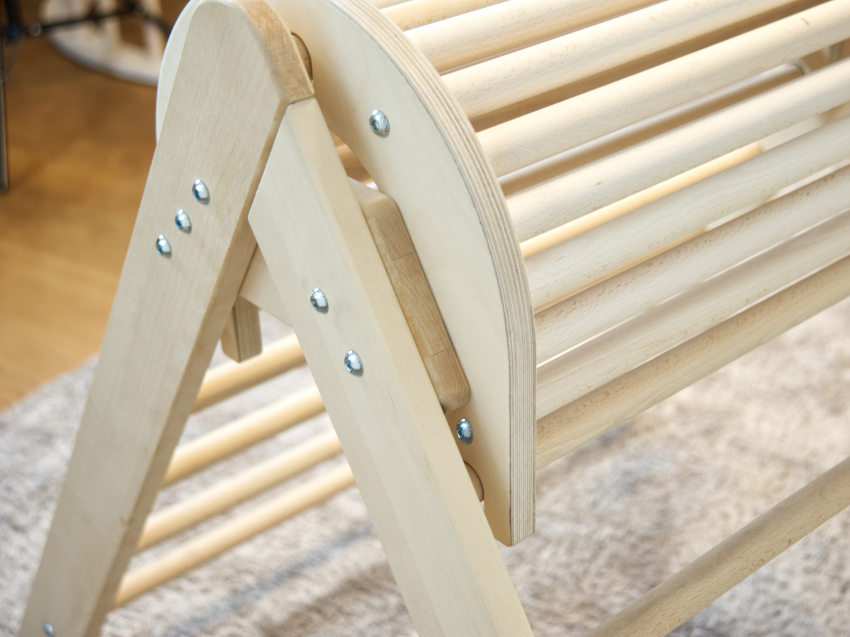 Holzpferd für Kletterdreieck Detail Konstuktion