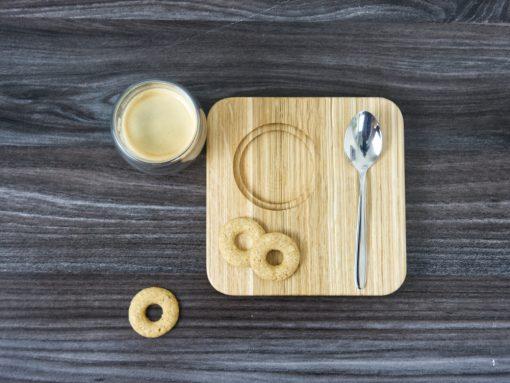 Kaffeeset aus Holz aus Eiche