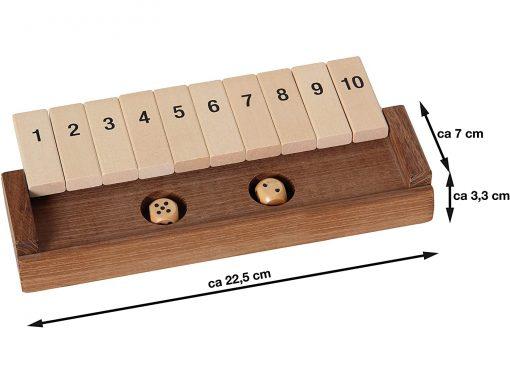 Klappenspiel aus Holz - Abmessungen