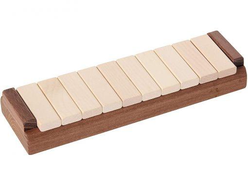 Klappenspiel aus Holz geschlossen