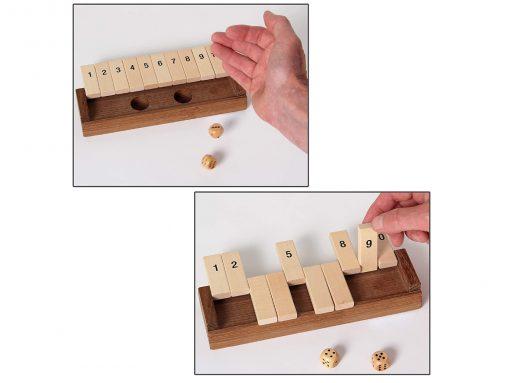 Klappenspiel aus Holz - Spielablauf