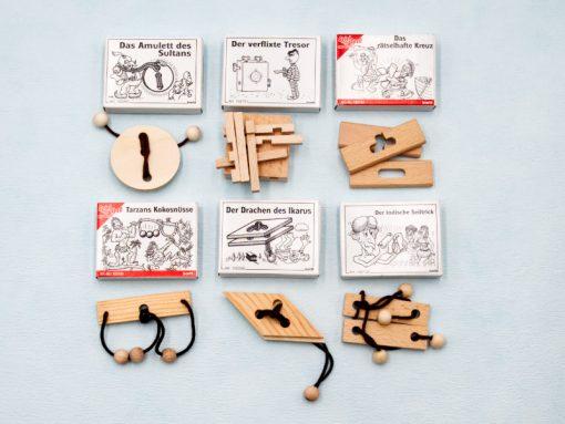 Mini-Rätselspiele aus Holz