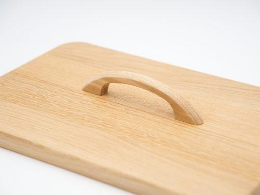 Möbelgriff Ladengriff aus Holz - Eiche lackiert