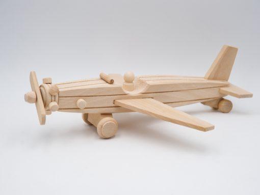 Propeller Flugzeug aus Holz