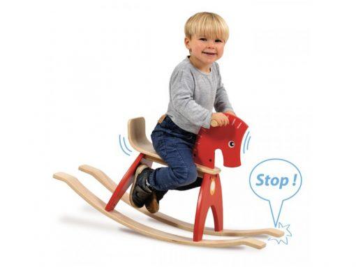 Schaukelpferd aus Holz für Kleinkinder