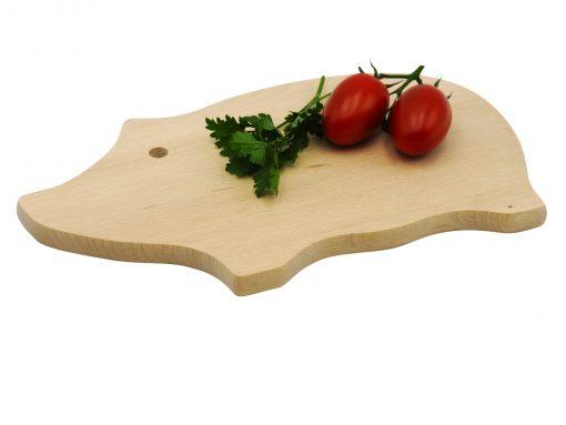 Schwein Jausenbrett gefertigt aus einem Stück Holz