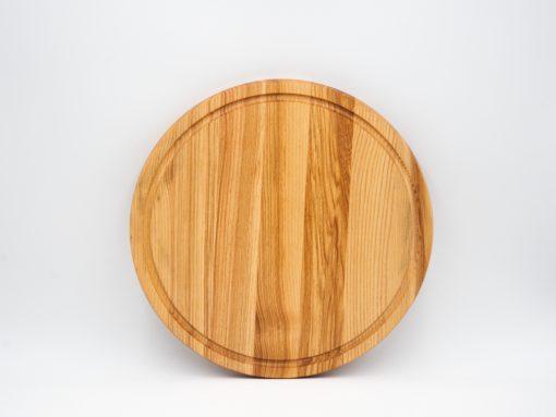 Servierplatte aus Holz Rückseite