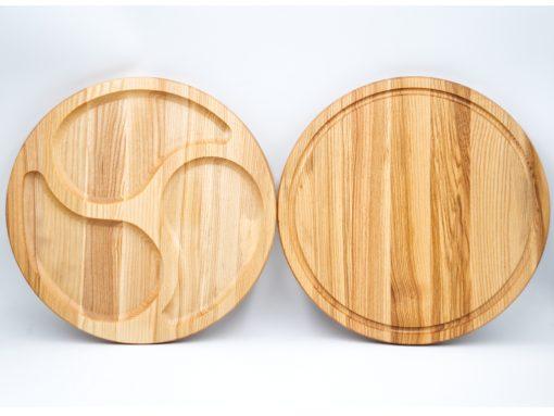 Servierplatte aus Holz doppelseitig
