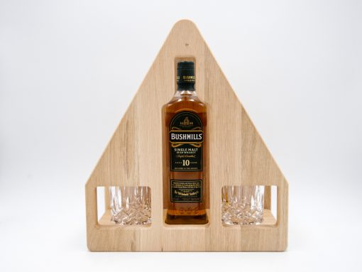 Whiskey Set aus Eiche