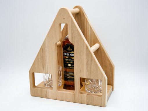 Whiskey Set aus Eiche Unikat