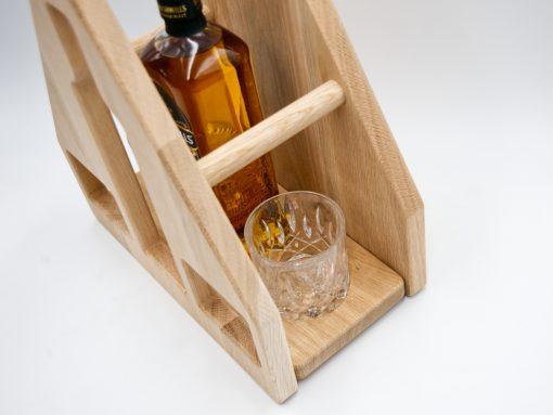 Whiskey Set aus Eiche mit Bushmills 10YO Irish Whiskey
