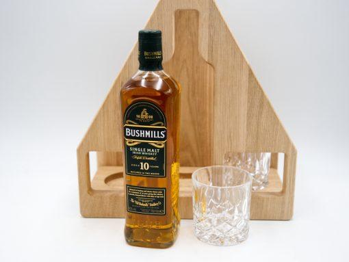 Whiskey Set aus Eiche mit Bushmills