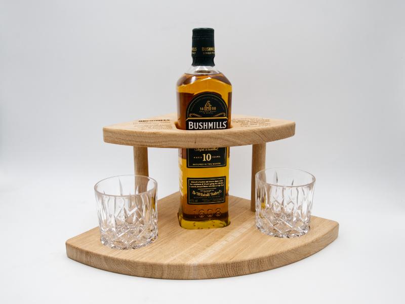 Whiskey geschenkset aus Holz mit Bushmills