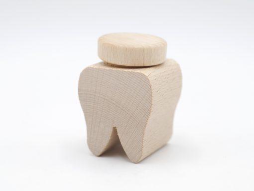 Zahndose aus Holz aus unbelassener Buche