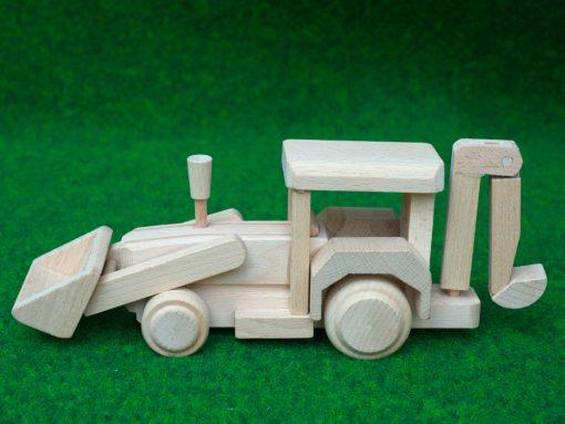 Bagger aus Holz - nachhaltig spielen mit Holz