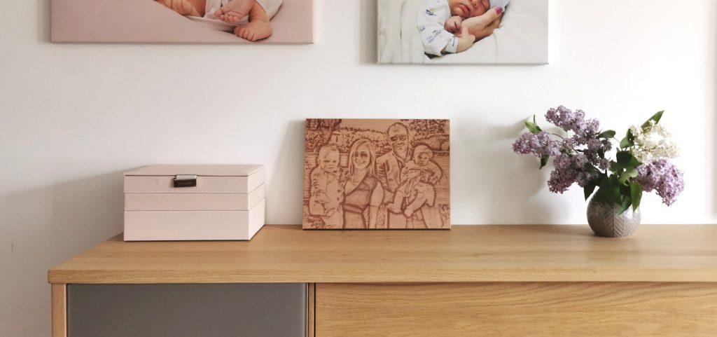 Bildgravur auf Holz - ein persönliches Fotogeschenk
