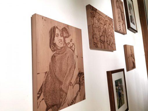 Bildgravur auf Holz - persönliches nachhaltiges Geschenk