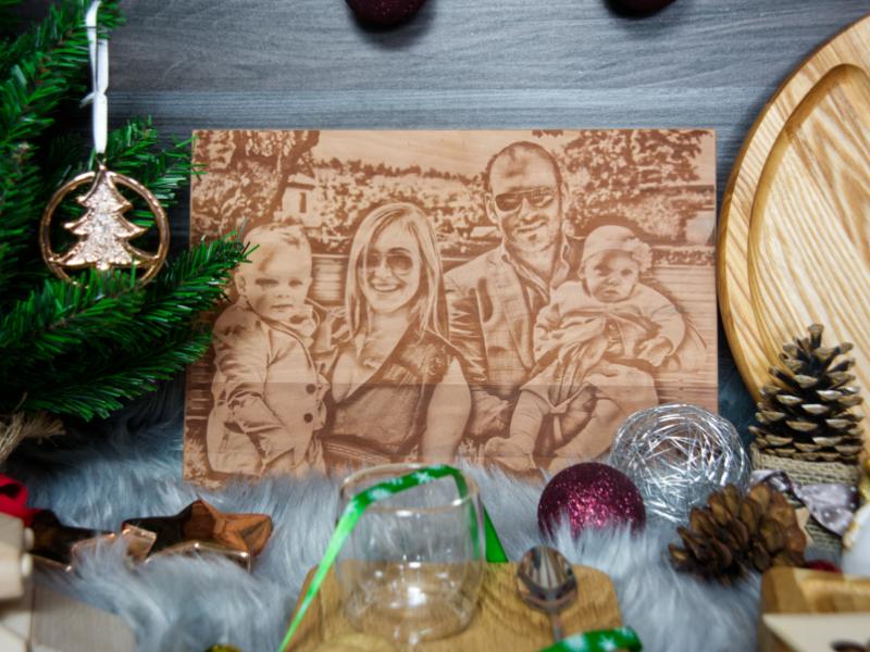 bildgravur fotogeschenk weihnachten