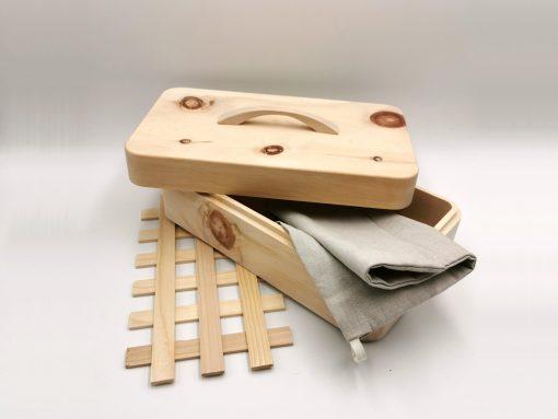 design Zirbenbrotdose mit hochwertigem Zubehör