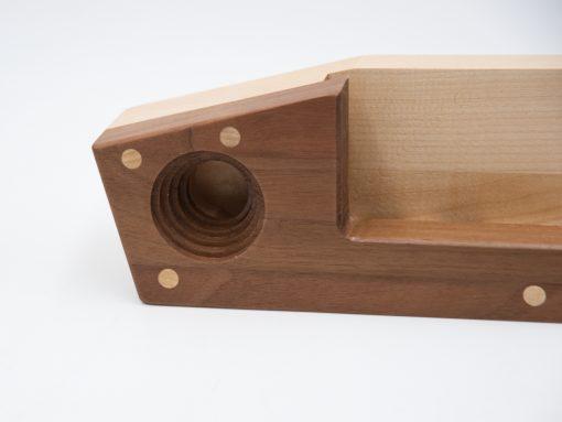 Echophon aus Holz -gefertigt aus Nussholz