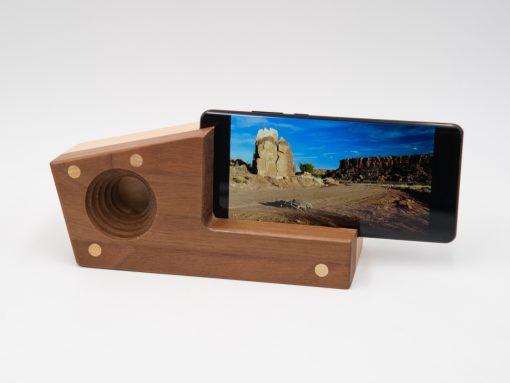 Echophon aus Nussholz - für alle Handys