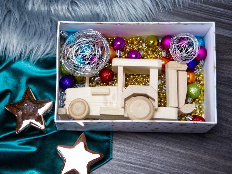 geschenke aus Holz für Kinder Weihnachten
