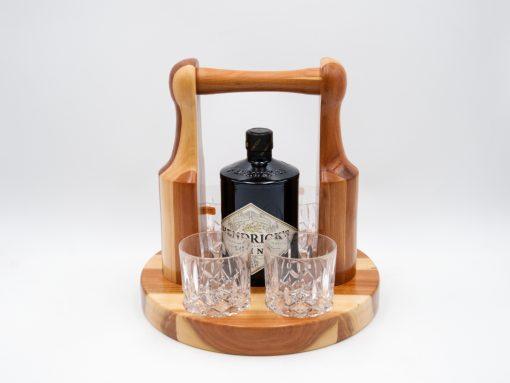 gin set aus holz zwetschke