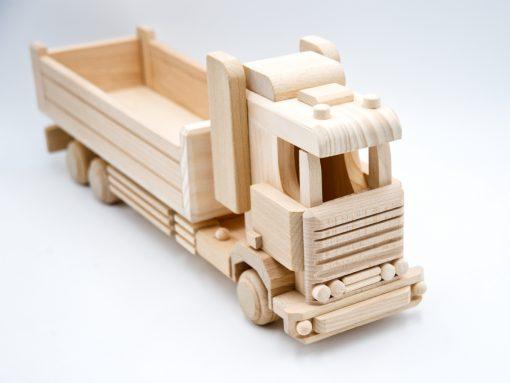 Großer Lastwagen aus Holz - nachhaltiges Spielzeug aus Holz