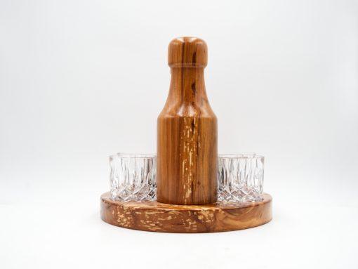 handgemachtes gin set aus zwetschke