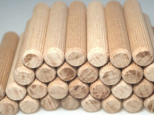 Hozdübel aus mehreren Holzarten