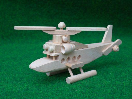 Hubschrauber aus Holz
