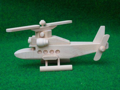 Hubschrauber aus Holz - nachhaltiges Spielzeug aus Holz