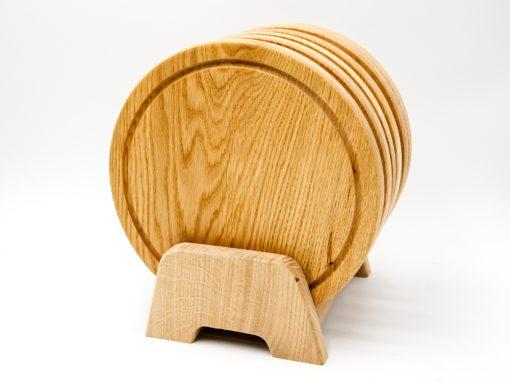 jausenbrett aus eiche aus einem Stück Holz