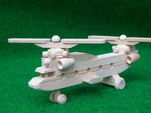 Lastenhubschrauber aus Holz
