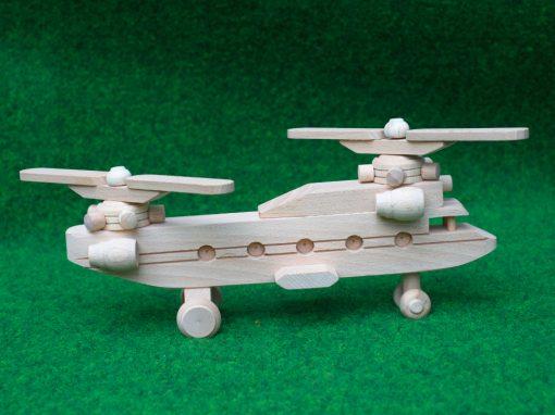 Lastenhubschrauber aus Holz - nachhaltiges Spielzeug aus Holz