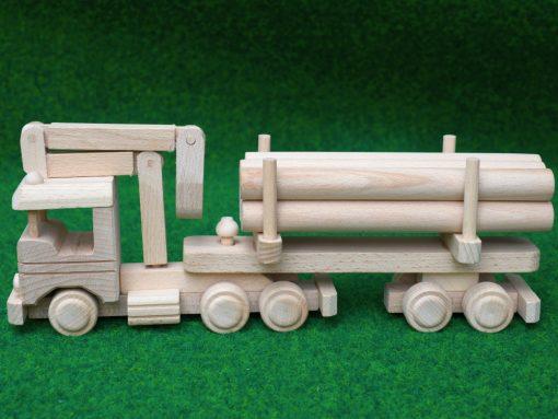 LKW mit Holzanhänger - nachhaltig spielen