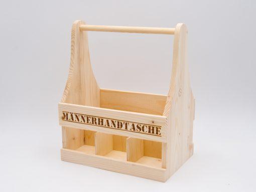 Männerhandtasche aus Holz