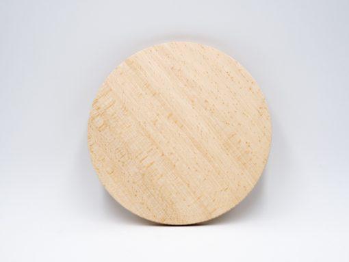 Rundes jausenbrett aus Buche gefertigt aus einem Stück Holz