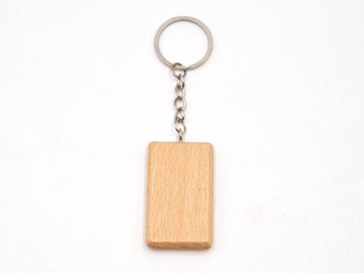 schlüsselanhänger aus Holz rechteckig