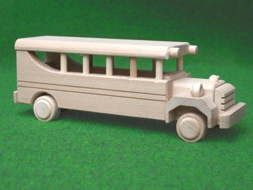 Schulbus aus Holz