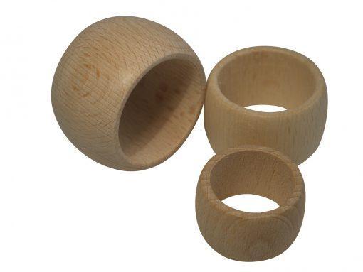 Serviettenringe aus Holz in 3 Größen