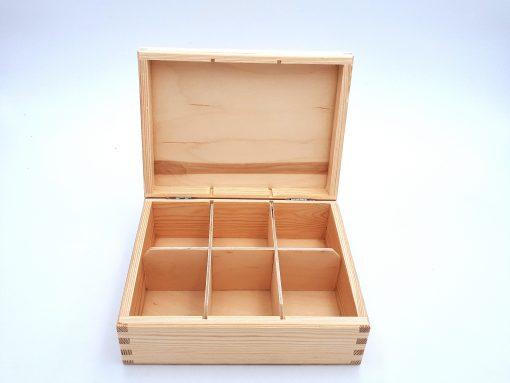 teebox aus holz-leer-9sorten