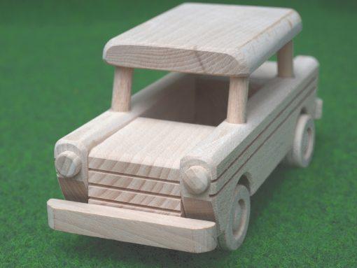 Trabant aus Holz - nachhaltig spielen mit Holz