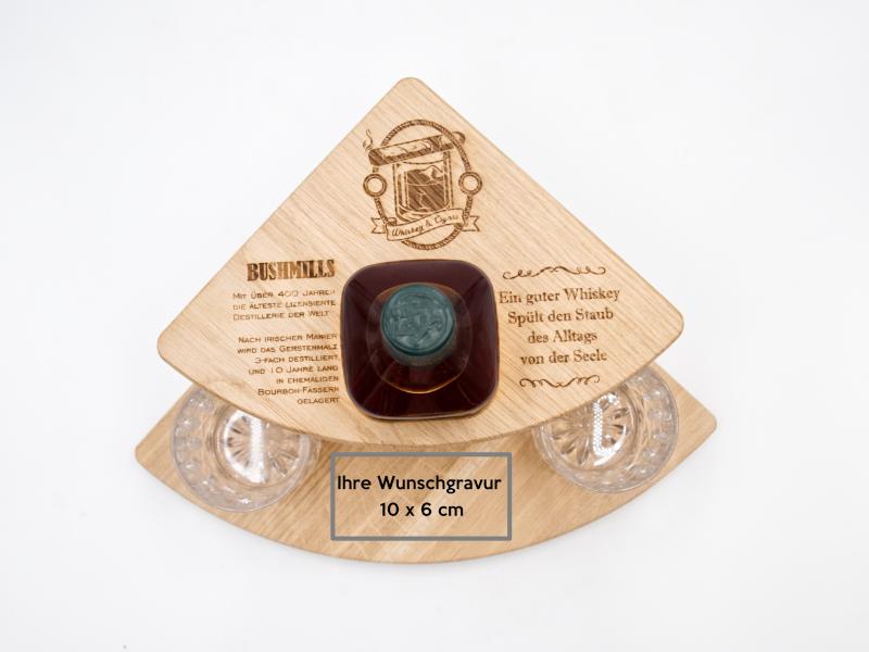 whiskey geschenkset aus Holz mit Lasergravur