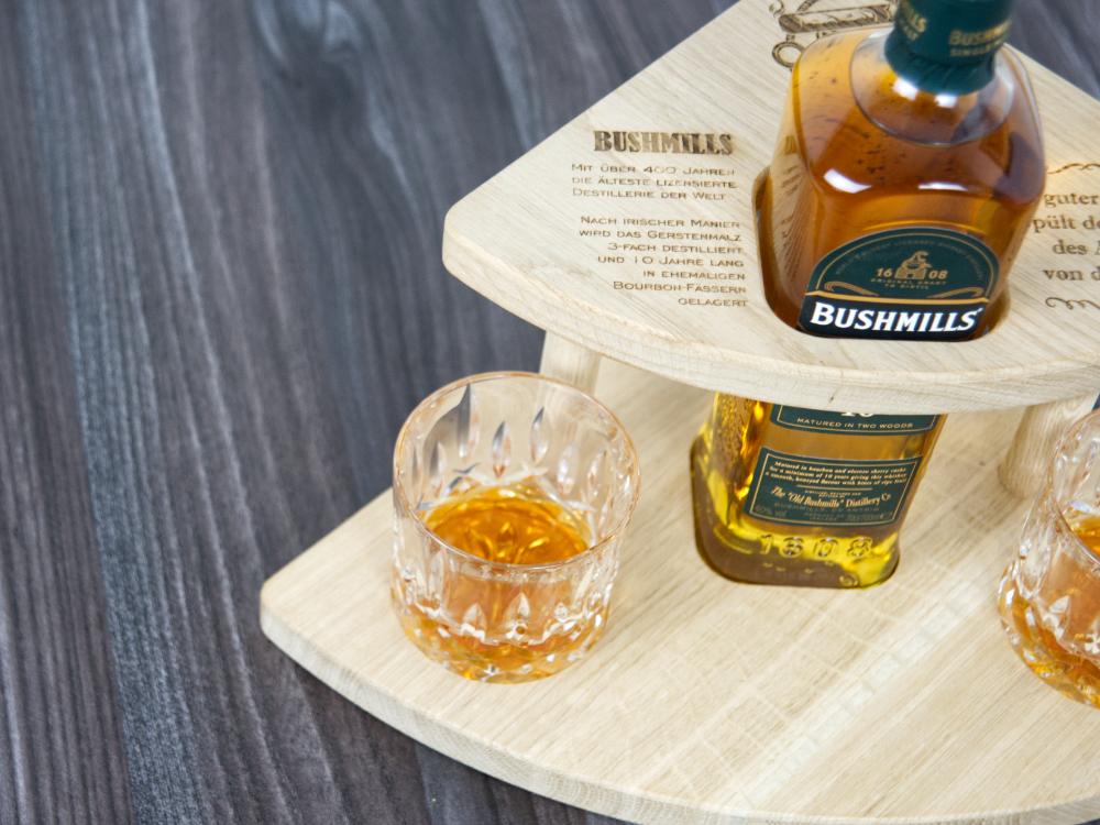 whiskey set aus holz - geschenke